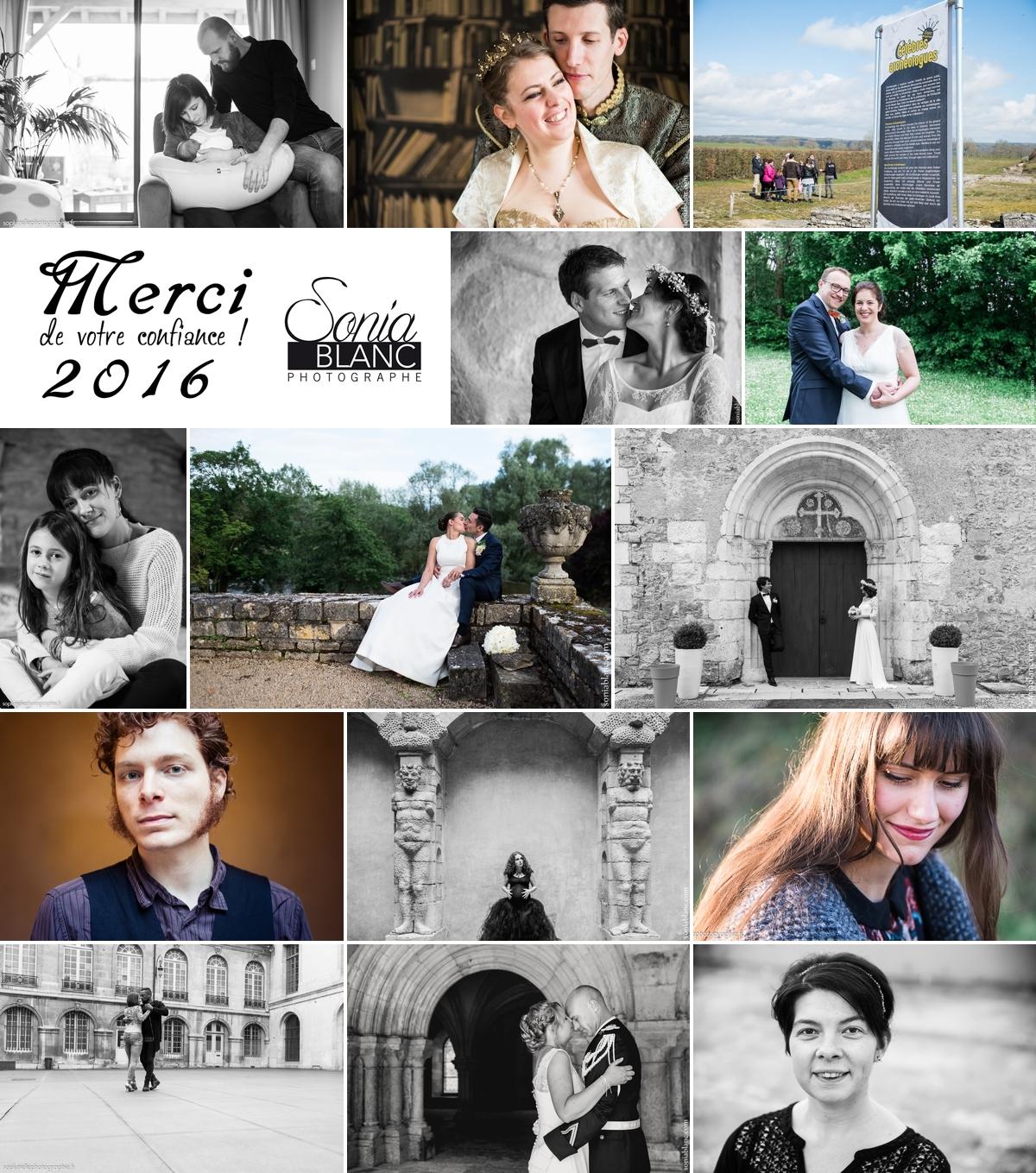 Rétrospective professionnelle 2016 – Mariages et Portraits