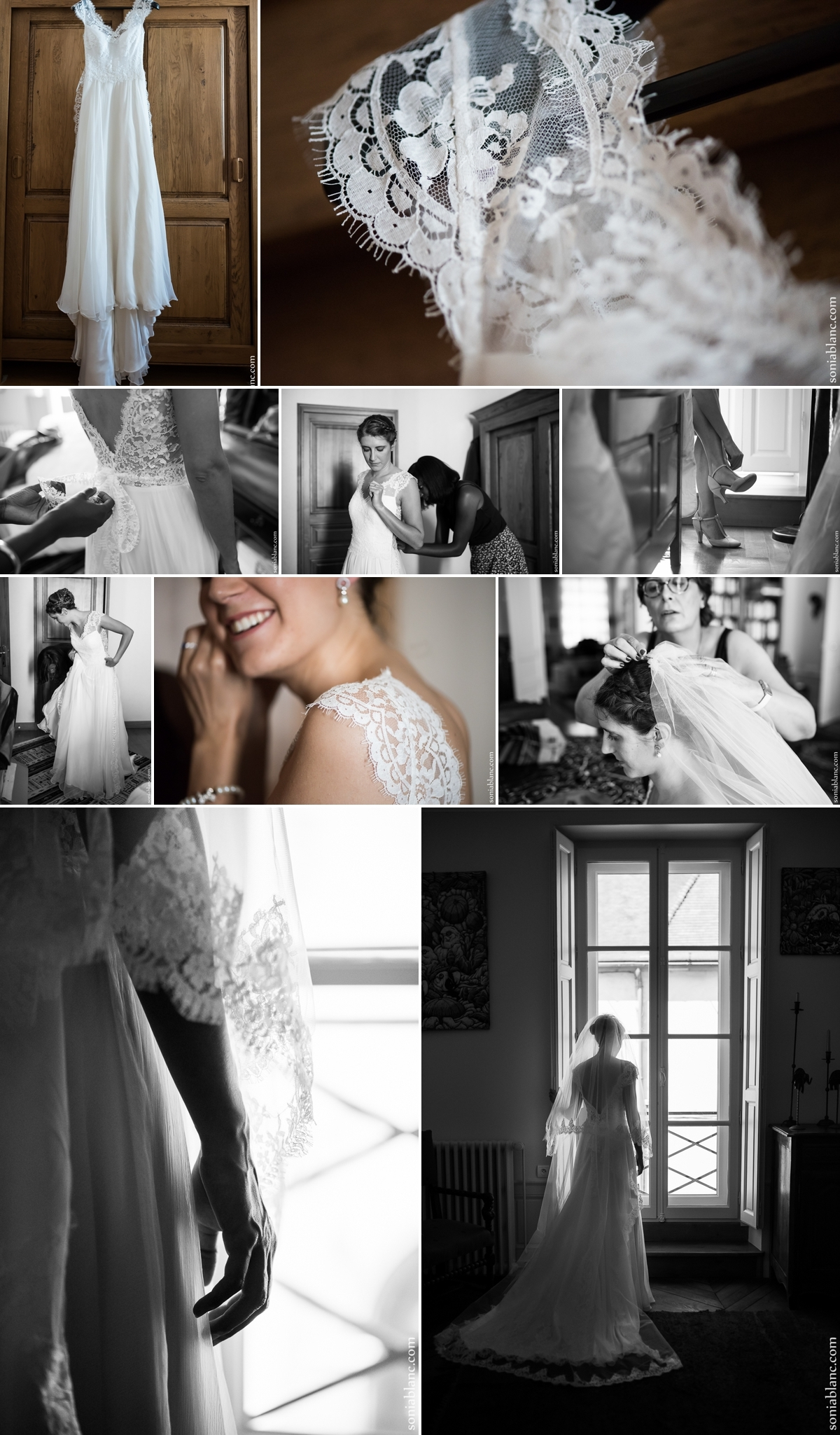 Passage de la robe de mariée à domicile - Dijon - Bourgogne
