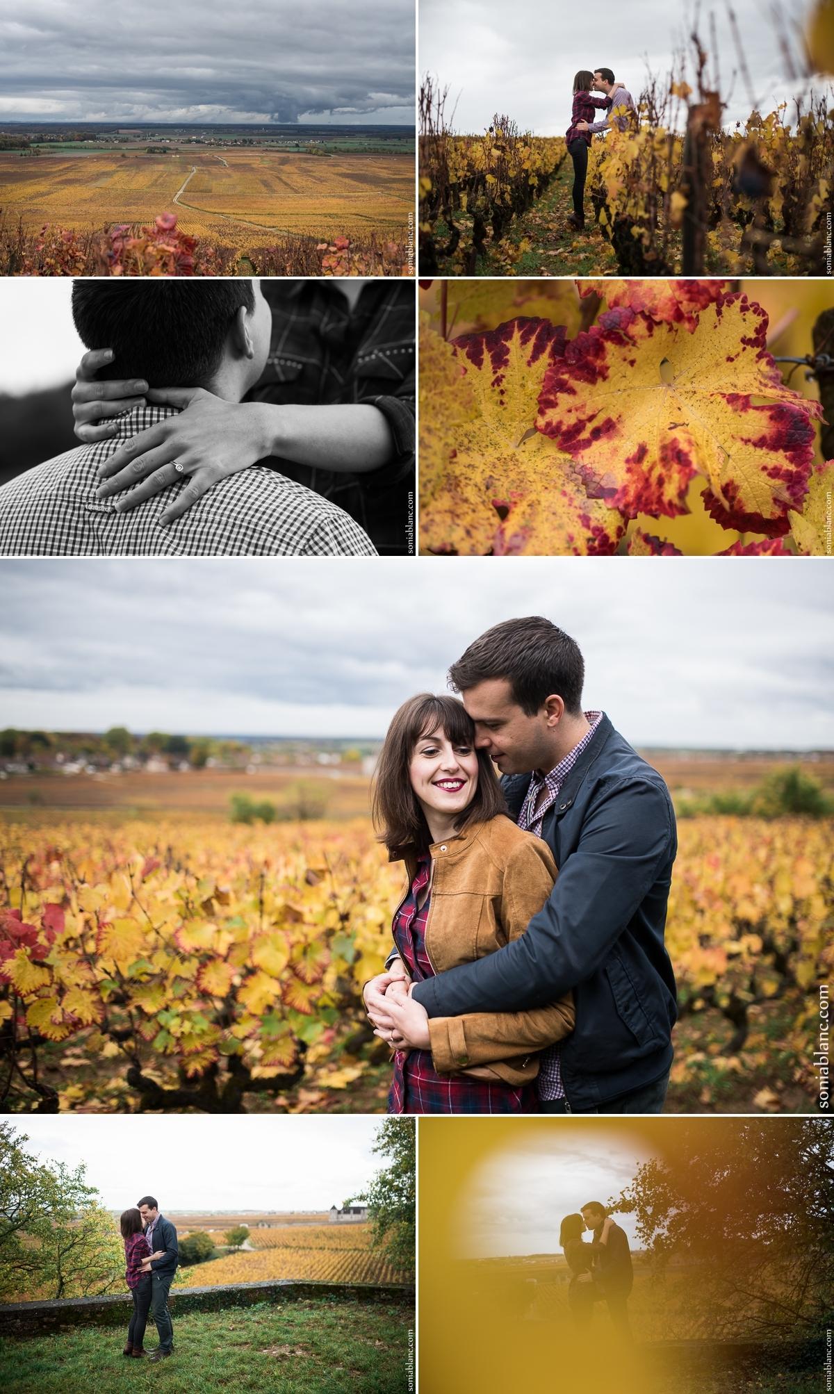 seance photo couple - clos vougeot - bourgogne