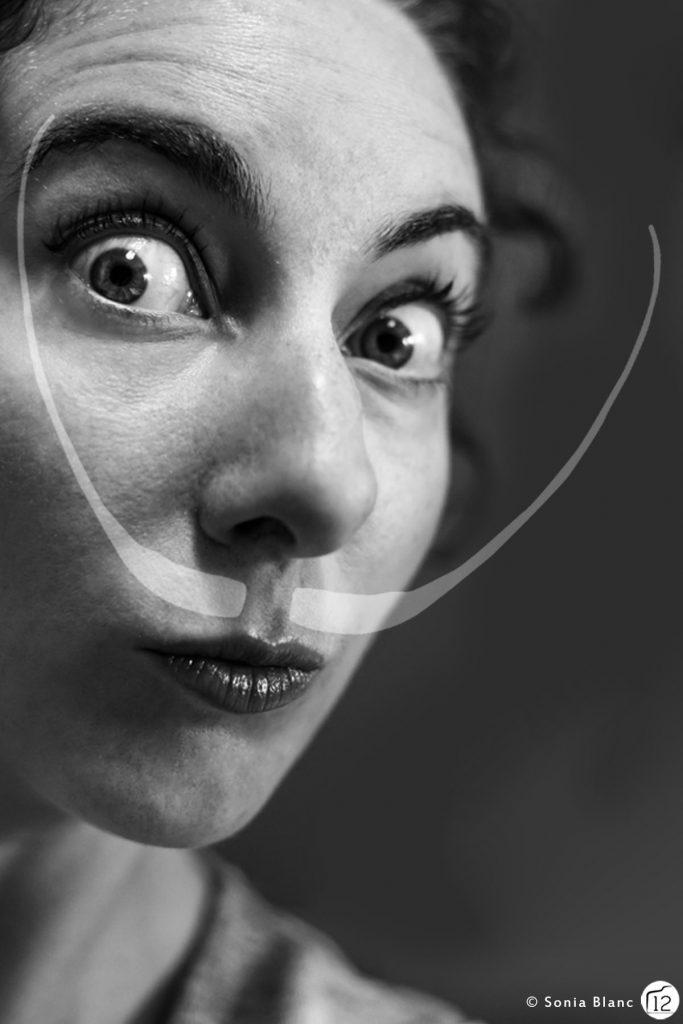 autoportrait inspirée de Dali par Sonia Blanc