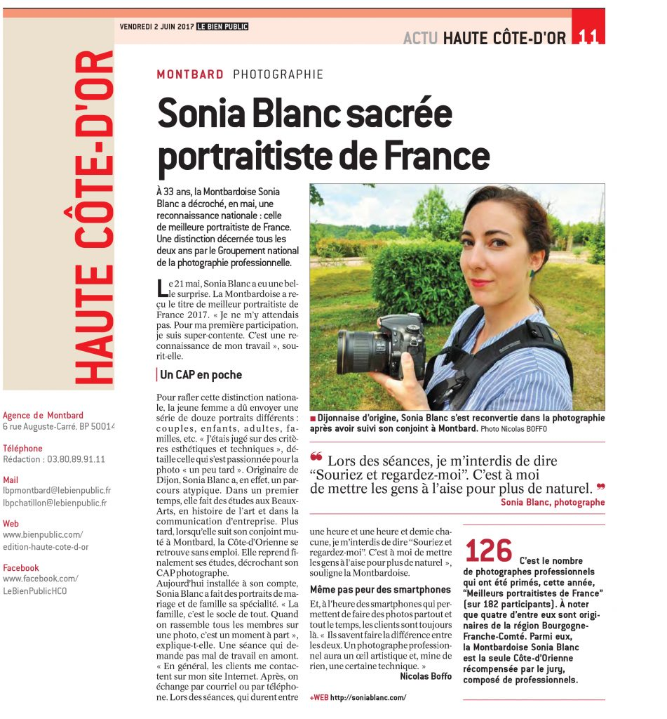 Portraitiste de France 2017 - Photographe professionnel Côte d'Or - Bourgogne