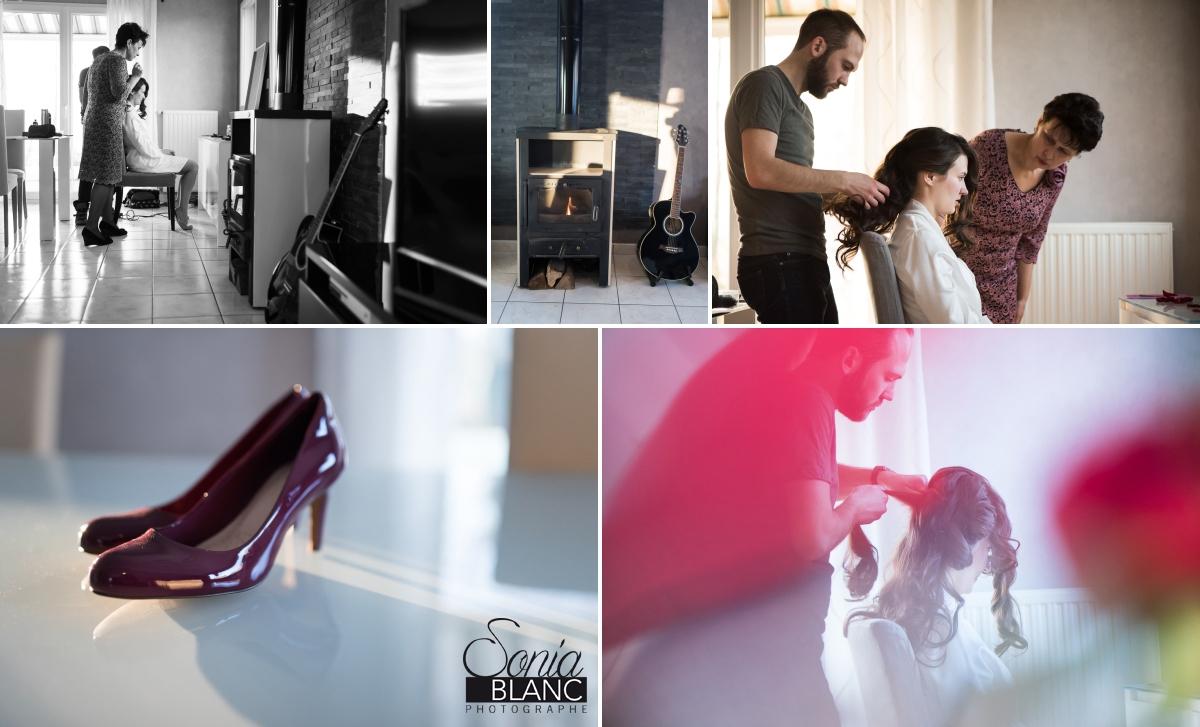 2 . Preparatifs - mariage à rennes - Bretagne - manoir de la begaudiere - sonia blanc photographe