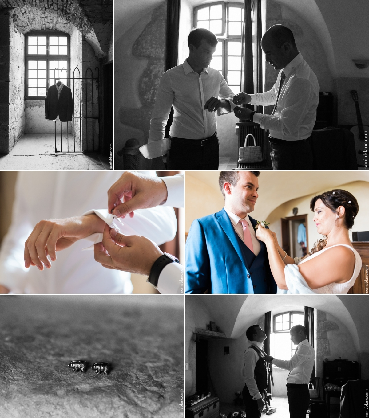 4. preparatifs du marié - Mariage à Flavigny sur Ozerain - château de Thenissey - bourgogne