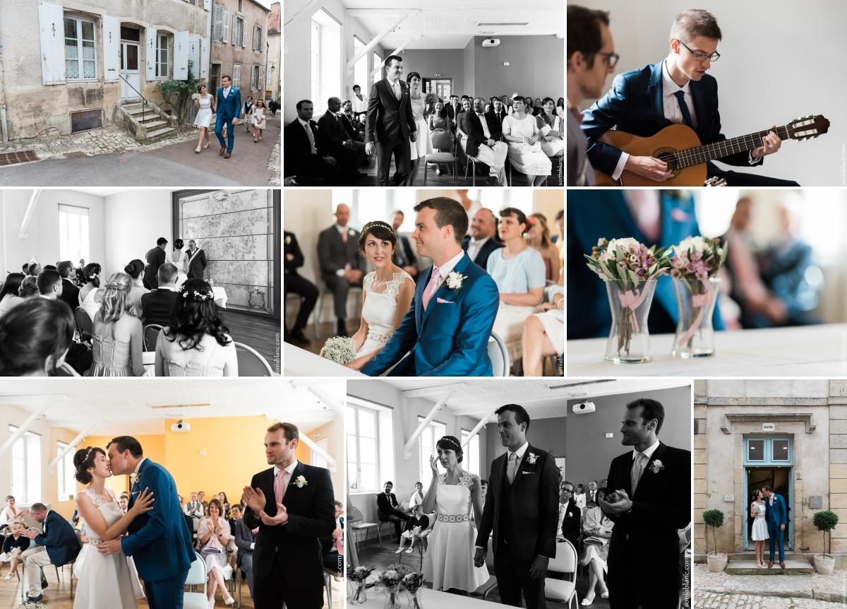 5. cérémonie civile - Mariage à Flavigny sur Ozerain - château de Thenissey - bourgogne