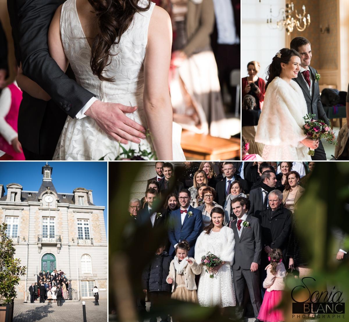8 - mairie - mariage à rennes - Bretagne - manoir de la begaudiere - sonia blanc photographe