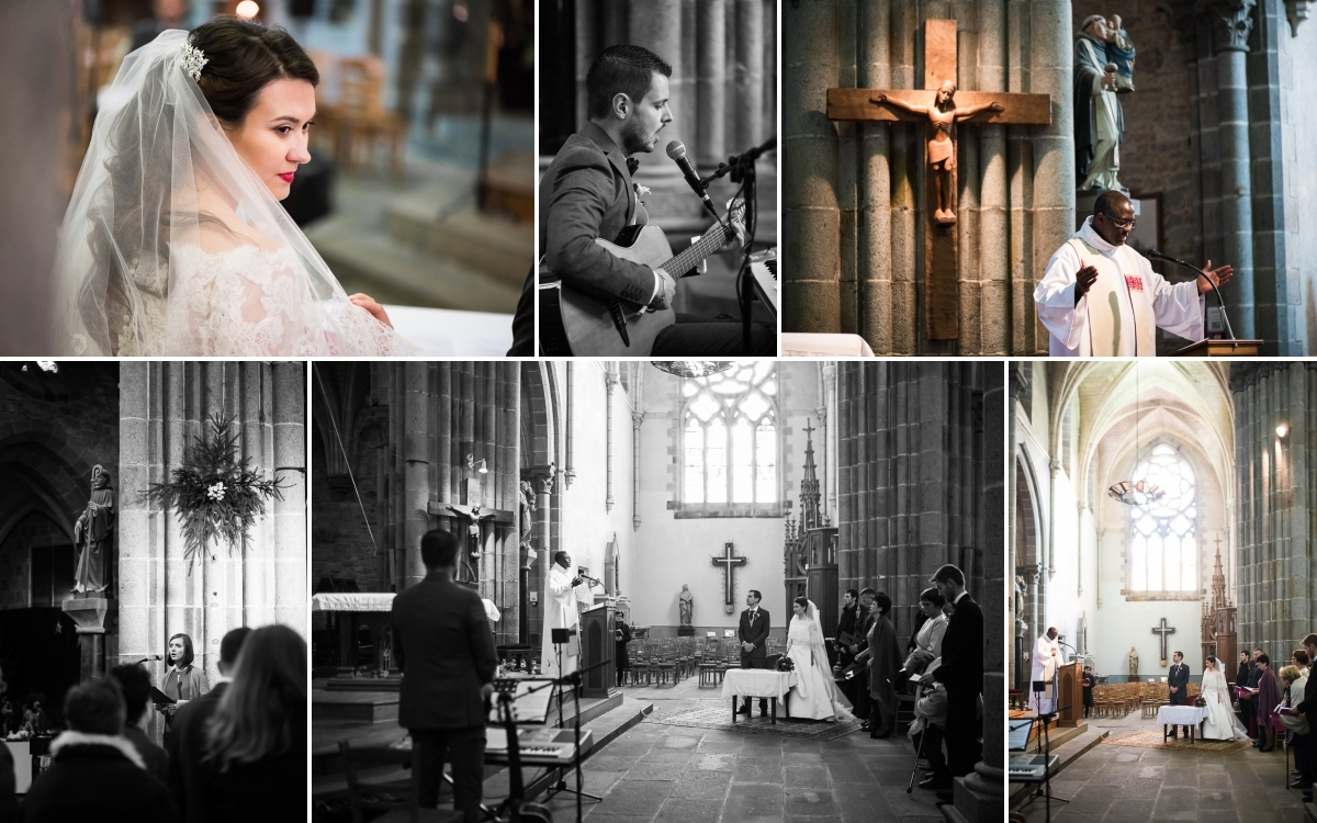 92 - ceremonie religieuse - mariage à rennes - Bretagne - manoir de la begaudiere - sonia blanc photographe