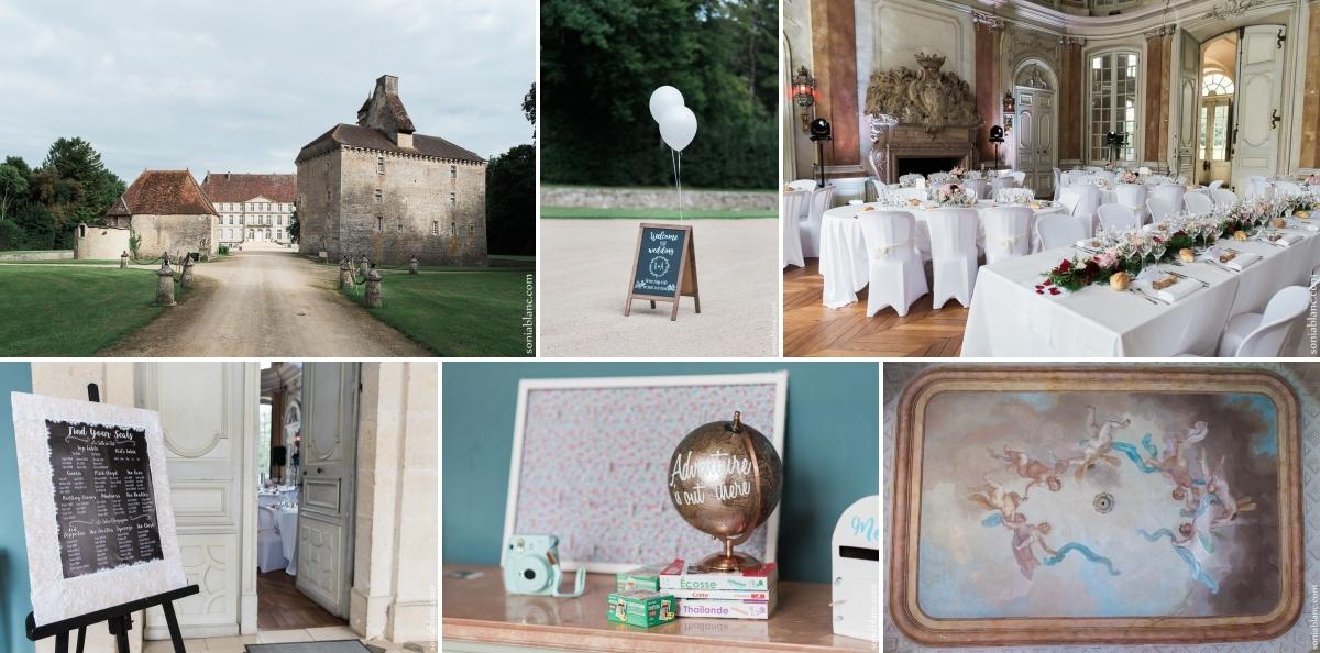 93. vin d'honneur - Mariage à Flavigny sur Ozerain - château de Thenissey - bourgogne