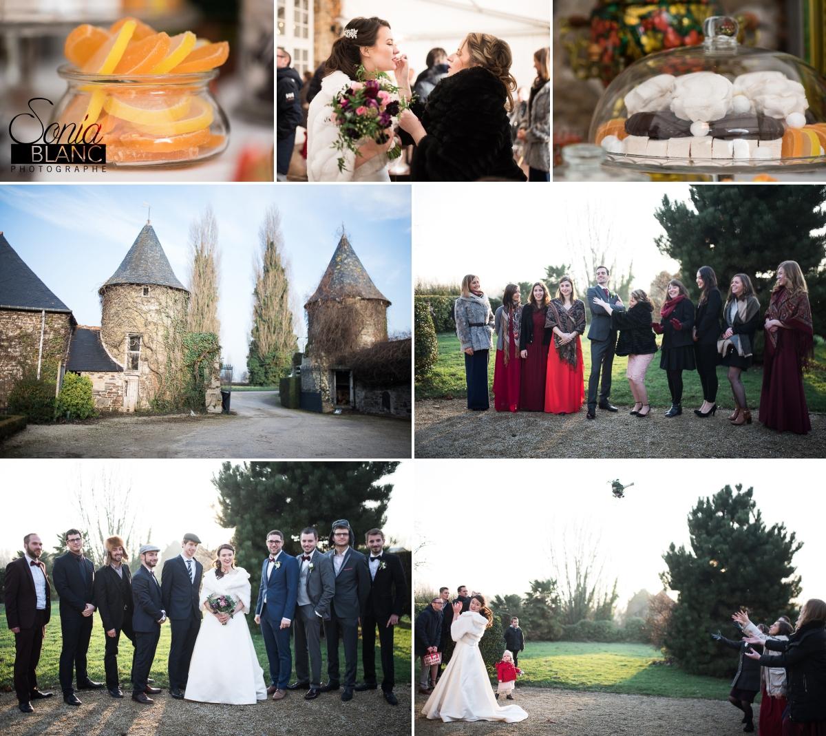 94 - vin d honneur - mariage à rennes - Bretagne - manoir de la begaudiere - sonia blanc photographe