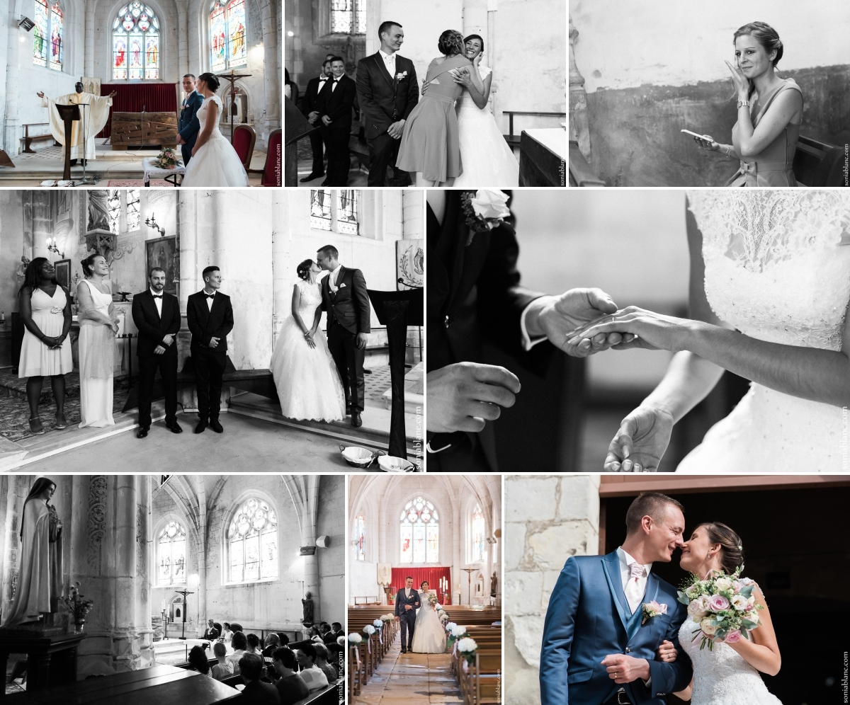 4. échange des alliances - ceremonie de mariage - eglise à ormoy - Yonne