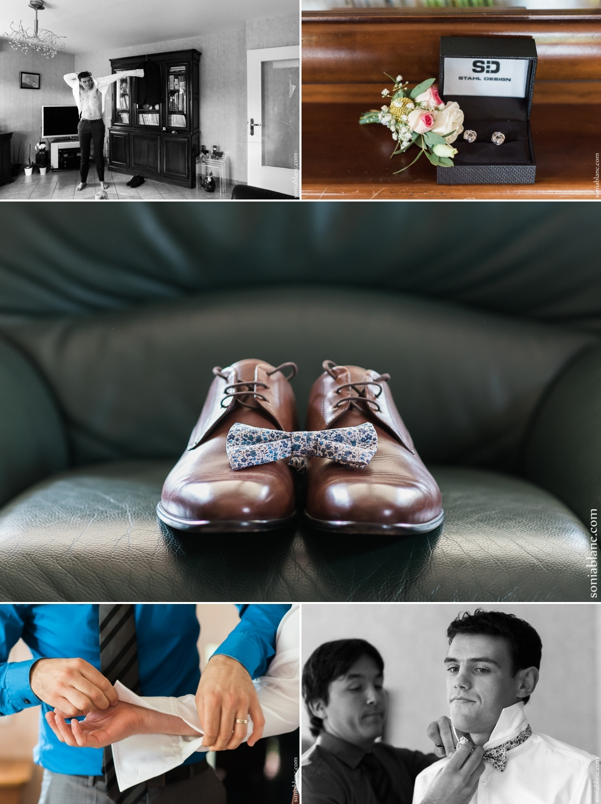 3. photographe de mariage - les preparatifs du marié à dijon en bourgogne
