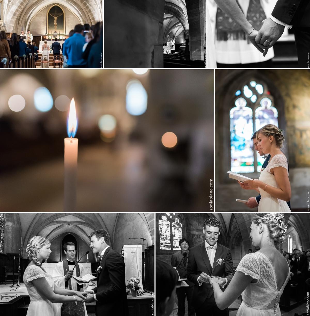 5. reportage photo de mariage à dijon - cérémonie religieuse - bourgogne